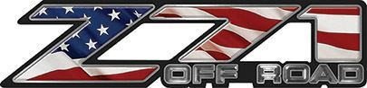 Classic Z71 Off Road Decals with American Flag
