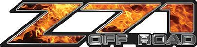 Classic Z71 Off Road Decals in Inferno Flames