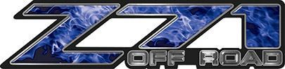 Classic Z71 Off Road Decals in Blue Inferno Flames