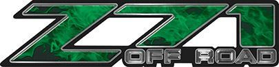 Classic Z71 Off Road Decals in Green Inferno Flames