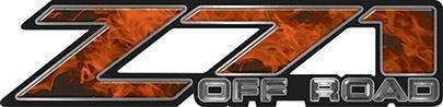 Classic Z71 Off Road Decals in Orange Inferno Flames