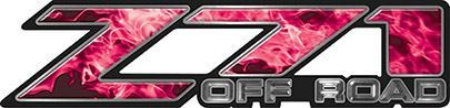 Classic Z71 Off Road Decals in Pink Inferno Flames