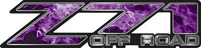 Classic Z71 Off Road Decals in Purple Inferno Flames