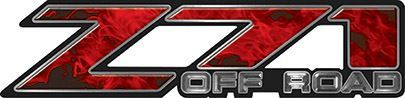 Classic Z71 Off Road Decals in Red Inferno Flames