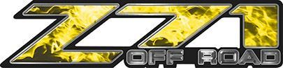 Classic Z71 Off Road Decals in Yellow Inferno Flames