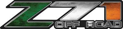 Classic Z71 Off Road Decals with Irish Flag