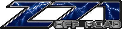 Classic Z71 Off Road Decals in Blue Lightning