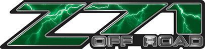 Classic Z71 Off Road Decals in Green Lightning