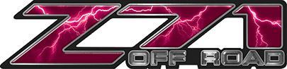 Classic Z71 Off Road Decals in Pink Lightning