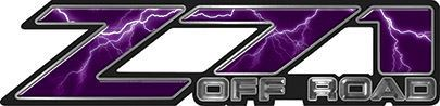 Classic Z71 Off Road Decals in Purple Lightning
