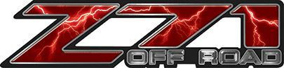 Classic Z71 Off Road Decals in Red Lightning