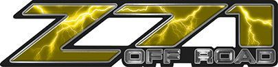 Classic Z71 Off Road Decals in Yellow Lightning