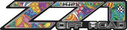 Classic Z71 Off Road Decals in Psychedelic Art