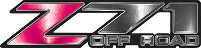 Classic Z71 Off Road Decals in Pink