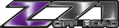 Classic Z71 Off Road Decals in Purple