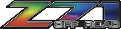 Classic Z71 Off Road Decals in Rainbow Colors