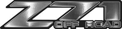 Classic Z71 Off Road Decals in Silver