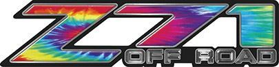 Classic Z71 Off Road Decals in Tie Dye Colors
