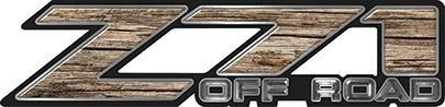 Classic Z71 Off Road Decals in Old Wood