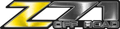 Classic Z71 Off Road Decals in Yellow