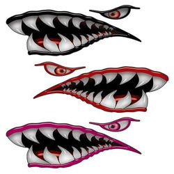 WWII Flying Tigers Shark Teeth Decals