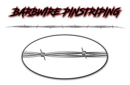 Barbed Wire Pin Stripe Decals in Gray