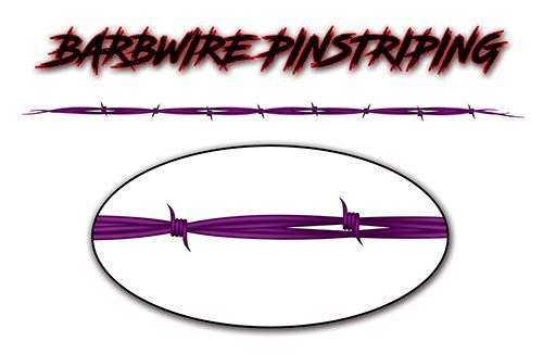Barbed Wire Pin Stripe Decals in Purple