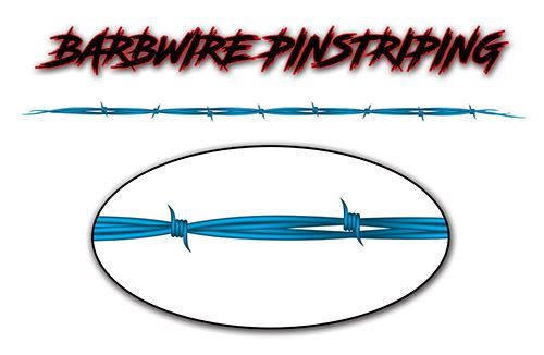 Barbed Wire Pin Stripe Decals in Teal