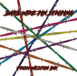 Barbed Wire Pin Stripe Decals from Weston Ink
