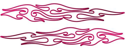 Thin & Long Tribal Flame Pin Stripe Decals in Pink