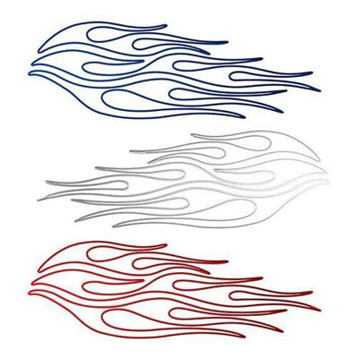 Pin Stripe Flame Decals
