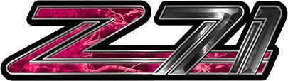 Classic GMC or Chevy Z-71 Decals in Pink Camouflage
