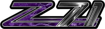 Classic GMC or Chevy Z-71 Decals in Purple Camouflage