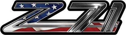 Classic GMC or Chevy Z-71 Decals with American Flag