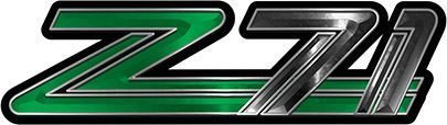 Classic GMC or Chevy Z-71 Decals in Green