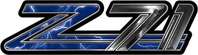 Classic GMC or Chevy Z-71 Decals in Blue Lightning