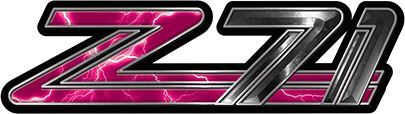 Classic GMC or Chevy Z-71 Decals in Pink Lightning