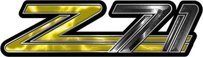 Classic GMC or Chevy Z-71 Decals in Yellow Lightning