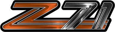 Classic GMC or Chevy Z-71 Decals in Orange