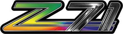 Classic GMC or Chevy Z-71 Decals in Rainbow Colors
