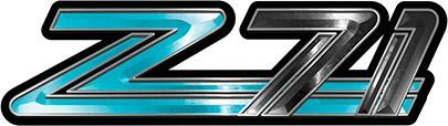 Classic GMC or Chevy Z-71 Decals in Teal