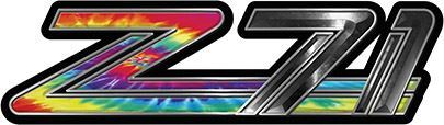 Classic GMC or Chevy Z-71 Decals in Tie Dye Colors
