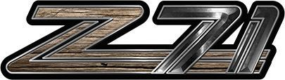 Classic GMC or Chevy Z-71 Decals in Old Wood