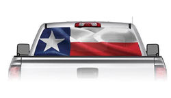 Texas Flag See Through Rear Window Decal