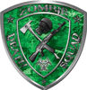 Zombie Death Squad Zombie Outbreak Decal in Green Camouflage