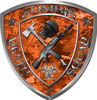 Zombie Death Squad Zombie Outbreak Decal in Orange Camouflage
