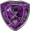 Zombie Death Squad Zombie Outbreak Decal in Purple Camouflage