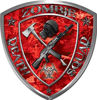 Zombie Death Squad Zombie Outbreak Decal in Red Camouflage