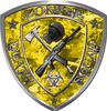 Zombie Death Squad Zombie Outbreak Decal in Yellow Camouflage