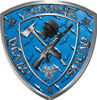 Zombie Death Squad Zombie Outbreak Decal in Blue Diamond Plate